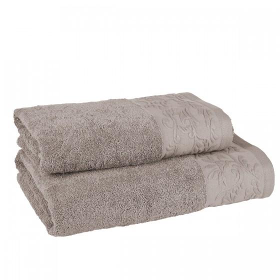 Плътна хавлиена кърпа за баня в цвят таупе - КАЗАБЛАНКА, размер 70/140 см
