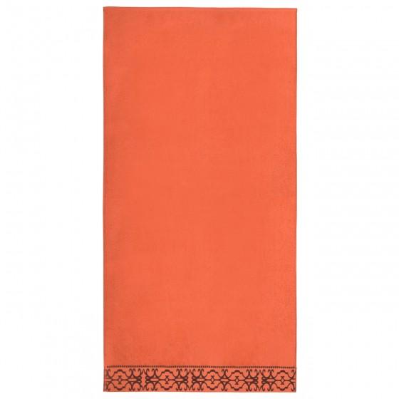 Луксозна Хавлиена Кърпа в Оранжево с Красив Борд - Терра, Плътна и Мека, 70/140 см.