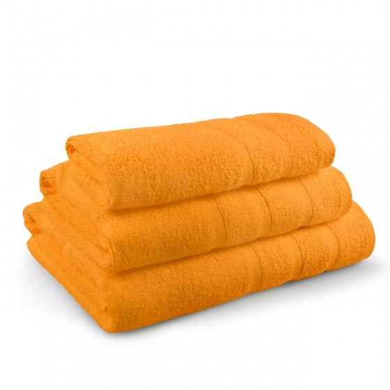 Комплект от 3 Броя Оранжеви Хавлиени Кърпи - Перла, в Три Размера, 400 г/м2