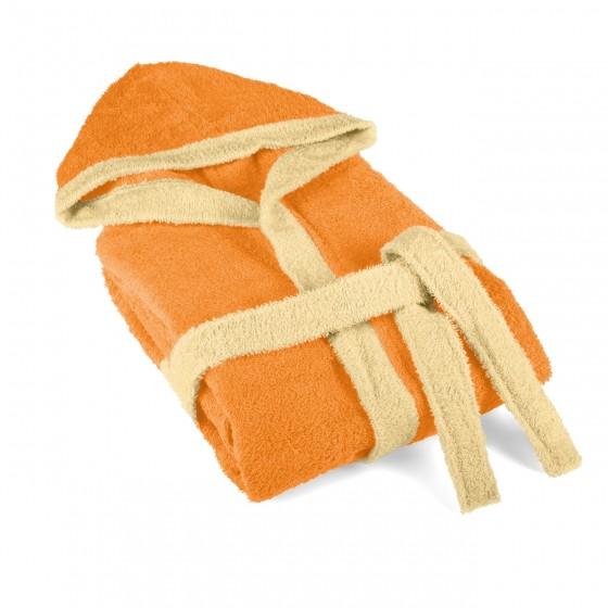 Детски Халат за Баня в Оранжево, 100% Памук, 6-8 Години