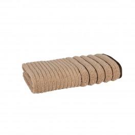Плътна хавлиена кърпа за баня в бежово ХАВАНА, размер 50х90 см