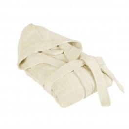 Халат за баня с бамбукови нишки в екрю БАМБУК, размер S/M