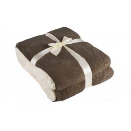 Луксозно и плътно одеяло в кафяв цвят МАДЖЕСТИК, Единичен размер 140/200 см