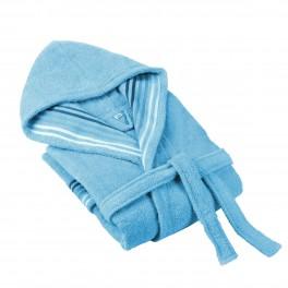 Халат за баня в синьо Венеция, размер S/M, 100% памук