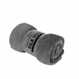 Сиво Едноцветно Одеяло, Изключително Меко и Топло - SILK TOUCH , 130/170 см