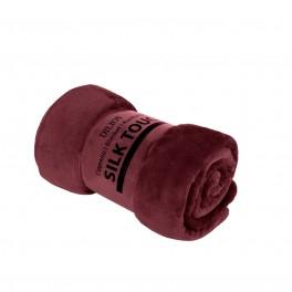 Едноцветно Одеяло Бордо, Изключително Меко и Топло - SILK TOUCH , 130/170 см