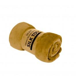 Жълто Едноцветно Одеяло, Изключително Меко и Топло - SILK TOUCH , 130/170 см