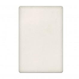 Едноцветен долен чаршаф в светло екрю, размер 150/220 см, материя Ранфорс