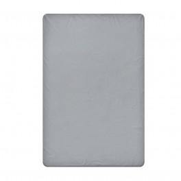 Едноцветен долен чаршаф в тъмно сиво, размер 240/260 см, материя Ранфорс