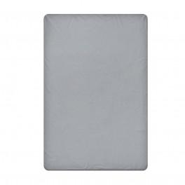 Едноцветен долен чаршаф в тъмно сиво, размер 150/220 см., материя Ранфорс