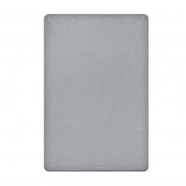Едноцветен долен чаршаф в тъмно сиво, размер 220/240 см., материя Ранфорс