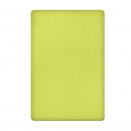 Едноцветен долен чаршаф в зелено, размер 150/260 см, материя Ранфорс