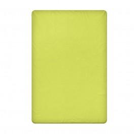 Едноцветен долен чаршаф в зелено, размер 150/220 см, материя Ранфорс