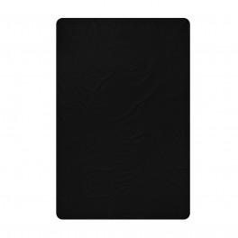 Черен чаршаф от памучен сатен в размер за спалня - 240/260 см.