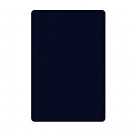 Тъмно син долен чаршаф от памучен сатен, 240/260 см.