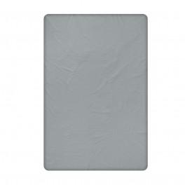 Тъмно сив долен чаршаф от памучен сатен, 240/260 см.