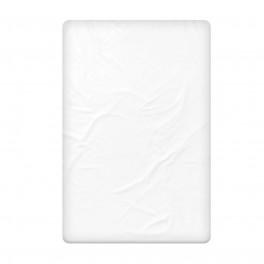 Бял Долен Чаршаф от 100% Памучен Сатен, Размер 180/240 см.