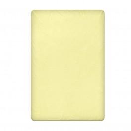 Едноцветен Долен чаршаф в светло жълто, размер 150/260 см, материя Ранфорс