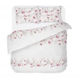 Бяло Спално Бельо на Цветя, без Долен Чаршаф - Мари, Двоен размер