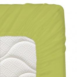 160/200/20 см., чаршаф с ластик ранфорс - зелено