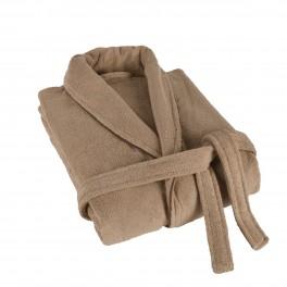 Мек халат за баня в бежово ХАВАНА, размер L/XL