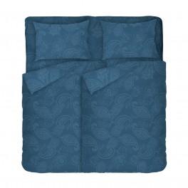 Спално Бельо от 100% Памук за Спалня с Два Плика, Олимпия 2,Етно Спално Бельо Синьо-Зелено