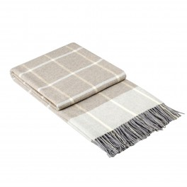 Модерно одеяло в БЕЖОВО каре - ОНТАРИО БЕЖ, размер 140/200 см
