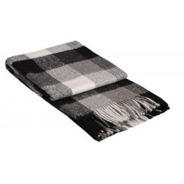 Сиво одеяло с вълна, на квадрати - ПАЛЕРМО, размер 140/200 см