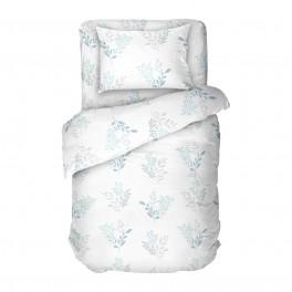 Спално Бельо Синьо и Бяло, Виктория 2, за Единично Легло, 100% Качествен Памук