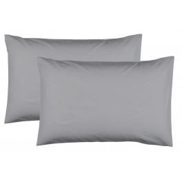 Едноцветни Калъфки за възглавница 2 Броя в Сиво - 50/70 см., 100% Памук Ранфорс
