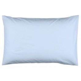 Едноцветна Калъфка за възглавница в Светло Синьо - 50/70, 100% Памук Ранфорс