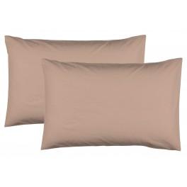 Едноцветни Калъфки за възглавница 2 Броя в Цвят Капучино - 50/70, 100% Памук Ранфорс