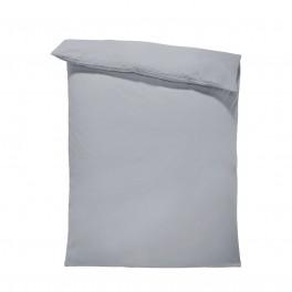 Едноцветен спален плик в тъмно сиво, материя ранфорс, размер 200/215 см