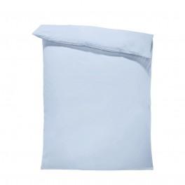 Едноцветен спален плик в светло синьо, материя ранфорс, размер 150/215 см.