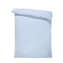 Едноцветен спален плик в светло синьо, материя ранфорс, размер 200/215 см
