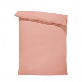 Едноцветен спален плик - Праскова, материя ранфорс, размер 150/215 см.