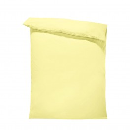 Едноцветен спален плик в светло жълто, материя ранфорс, размер 150/215 см.