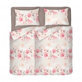 Спално Бельо на Цветя ТАНЕА 2 за Спалня с Два Плика, 100% Ранфорс, Нежна и Романтична Визия за Вашата Спалня