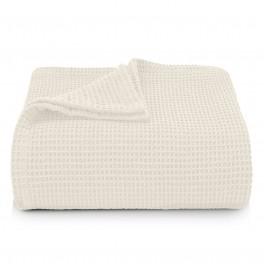 Памучна Покривка за Легло в Екрю - СИЕСТА,100% Памук, 160/230 см.