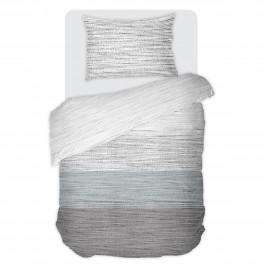 Спално Бельо в Сиво и Синьо Мист, В Единичен Размер без долен чаршаф, 100% Памук Ранфорс