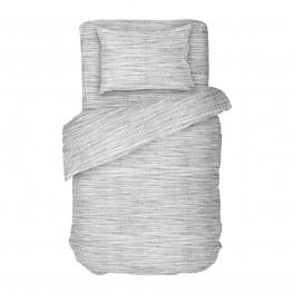 Единично Спално Бельо от Ранфорс в Сиво Мист 2, Семпъл Дизайн, 100% Памук, за Спалня