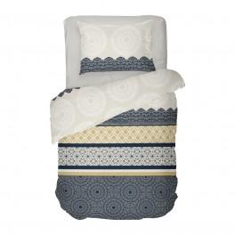 Единично Спално бельо Ранфорс в Черно и Бяло АМИРА, със Стилен Дизайн, Фигурални Мотиви, Качествена Памучна Материя
