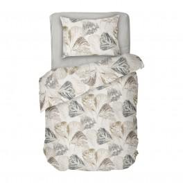 Спално Бельо Есенни листа Елизабет в Екрю, Есенен Дизайн,100% Памук