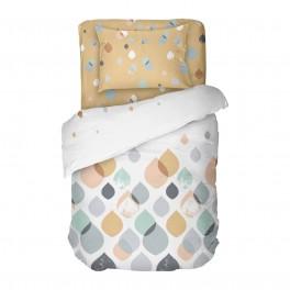 Спално Бельо в пастелни цветове Серена, Единичен Размер, 100% Памук Ранфорс