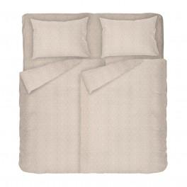 Качествено спално бельо в бежово - Кафе 2, Фигурален десен на ромбове, Размер за спалня с два плика