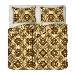 Двоен размер спално бельо в БОХО стил с два плика - ГОТИК, Интересен дизайн и висикокачествена материя Ранфорс