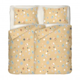 Спално Бельо в пастелни цветове Серена 2, двоен размер с два спални плика, 100% памук ранфорс