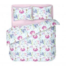 Хубаво Спално Бельо на Цветя 100% Памук, Двоен Размер, Април 2 с Един Плик за Спалня