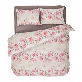 Спално Бельо на Цветя ТАНЕА 2 за Спалня с Един Плик, 100% Ранфорс, Нежна и Романтична Визия за Вашата Спалня