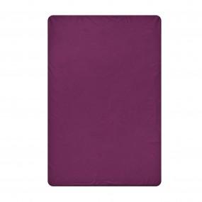 Едноцветен долен чаршаф в тъмно лилаво Моне, размер 150/240 см., материя Ранфорс